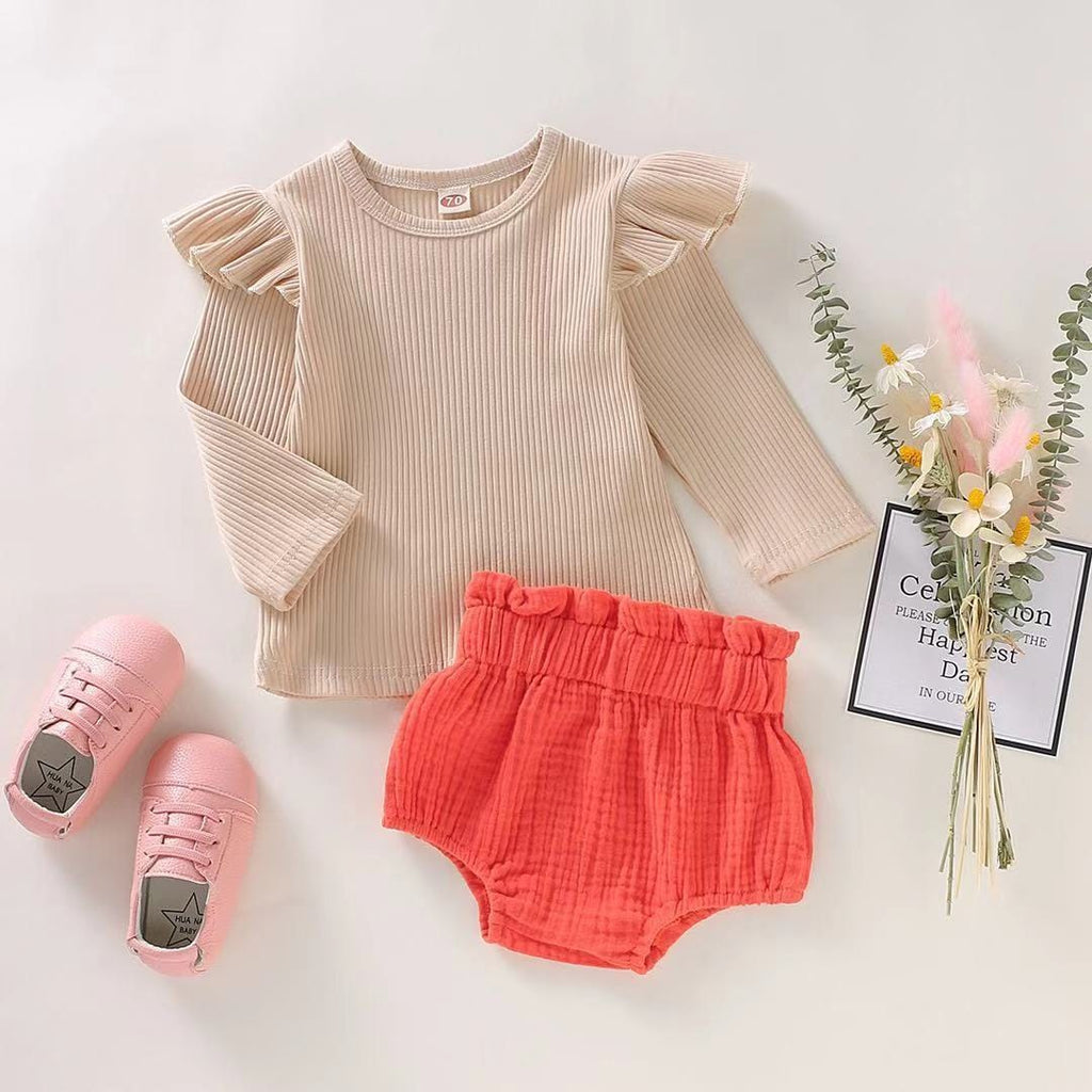 Baby Girl Long Sleeve Cotton Set