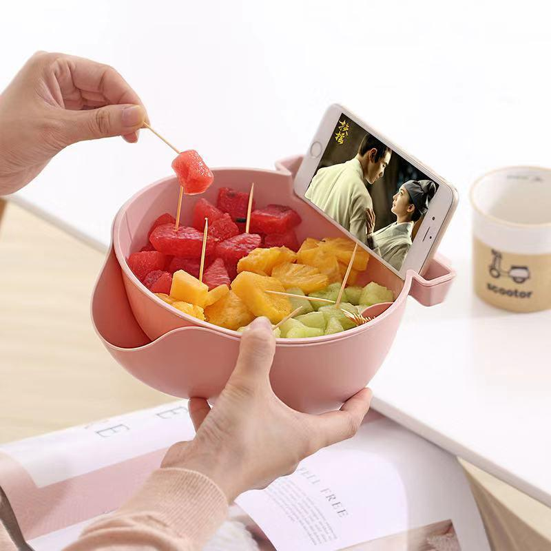Double Fruit Drain Basket-Homeware