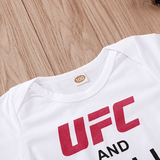 Ufc And Chill With My Daddy Letter Print Bodysuit For Babies