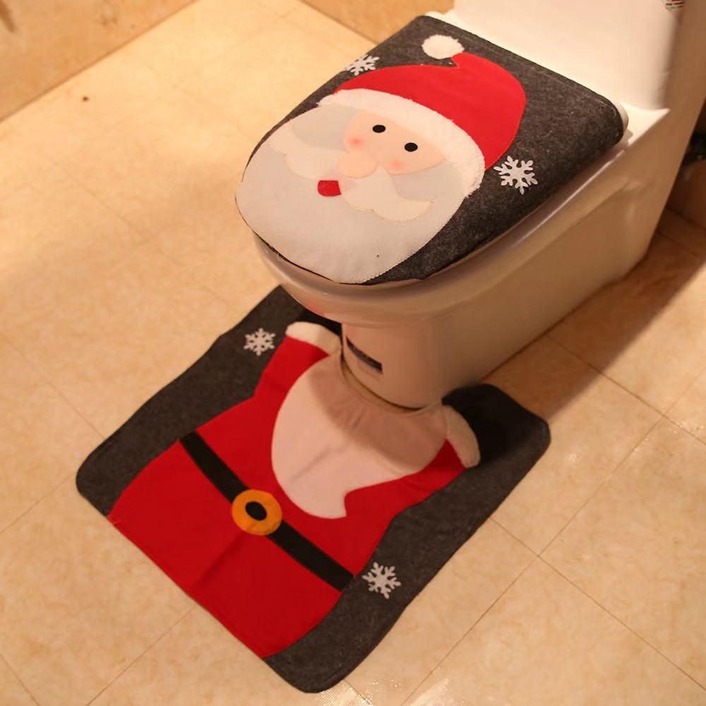 Merry Christmas Decorations - Bathroom Arrangement Toilet Decor