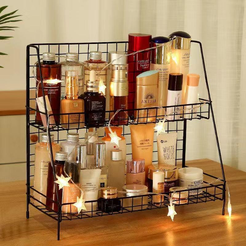 Multifunctional double storage rack-homeware(office organizer)