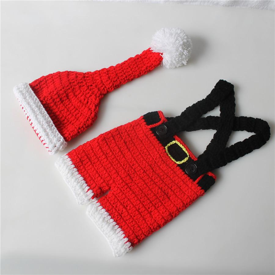 Christmas Outfit Baby Photography Prop Hat Pants Set