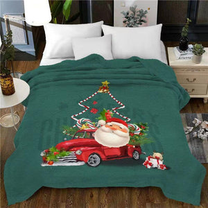 Christmas bedding - five styles of Christmas - Fale velvet blanket