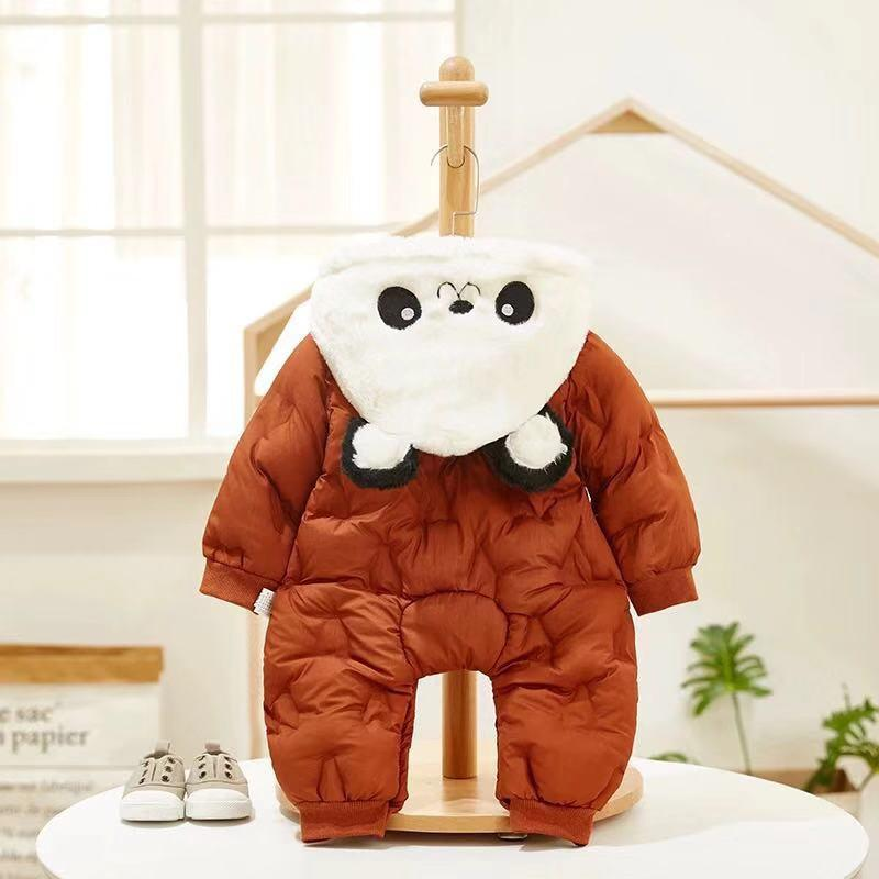 Panda thick down jacket variety of color onesies