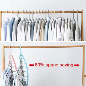 Multifunctional 11-hole hanger (saving wardrobe space)