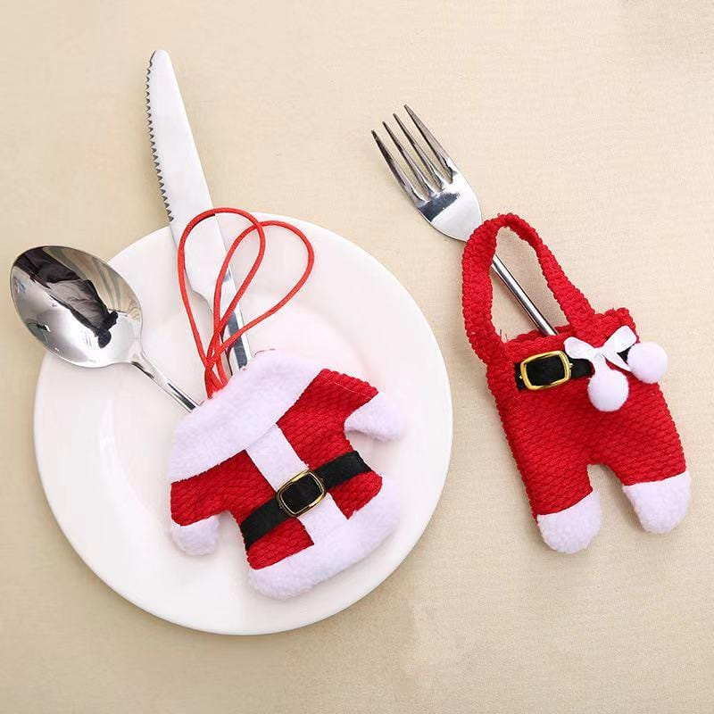 Merry Christmas Decorations - Christmas Cutlery Set