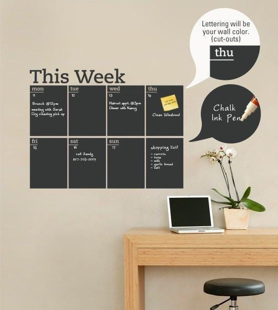 Removable Blackboard Design Wall Sticker-Homeware