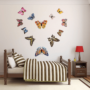12-piece Luminous 3D Butterfly Pattern Wall Sticker-Homeware