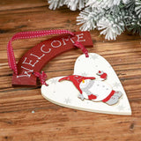 Merry Christmas Decorations - Wooden Love Snowman Tag-2-piece set
