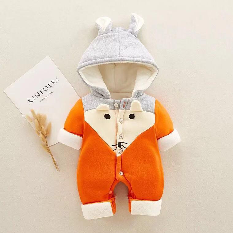 Baby fox animal long sleeve jumpsuit