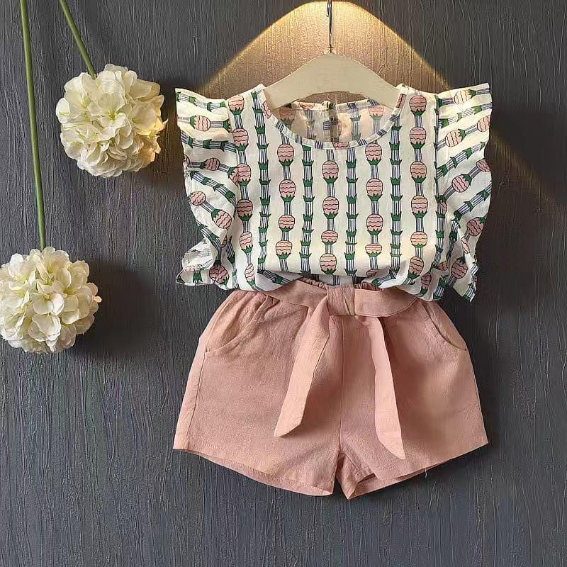 Baby / Toddler Ruffle Pineapple Blouse and Shorts Set