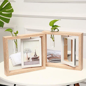 Baby wooden double-sided photo frame set-up souvenir