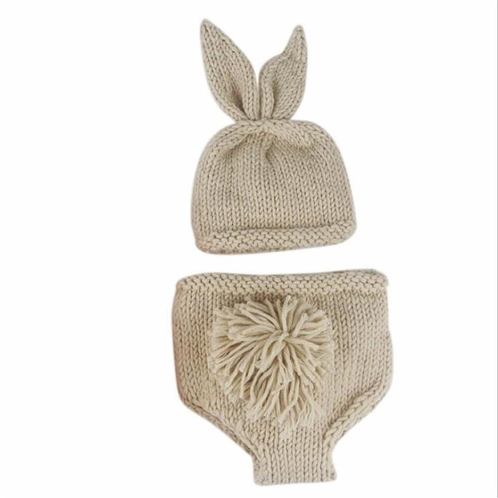 Rabbit Design Baby Photography Prop Pants, Hat and Carrot Set