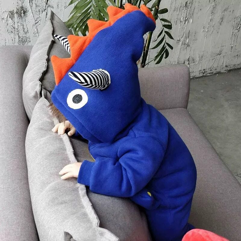 Baby dinosaur hooded jumpsuit