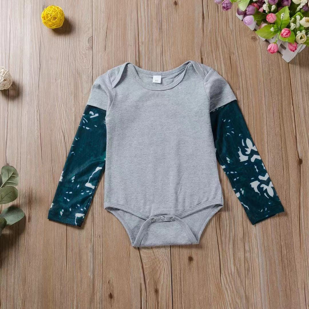Baby Boy / Girl Solid Long-sleeve Jumpsuit