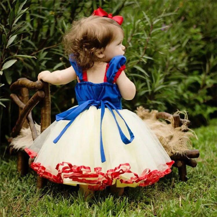 Snow White Full Dress Princess Yarn Princess Dress for Girls