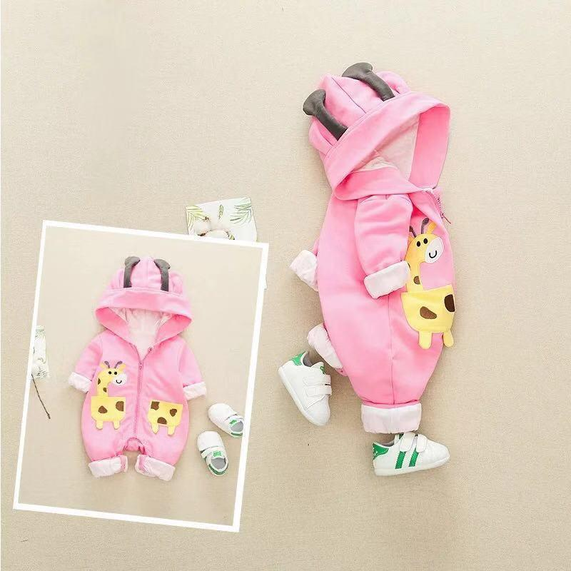 Baby cute deer long sleeve jumpsuit