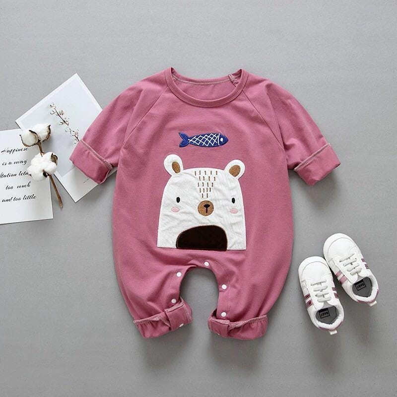 Variety of animal baby cotton long sleeve jumpsuit