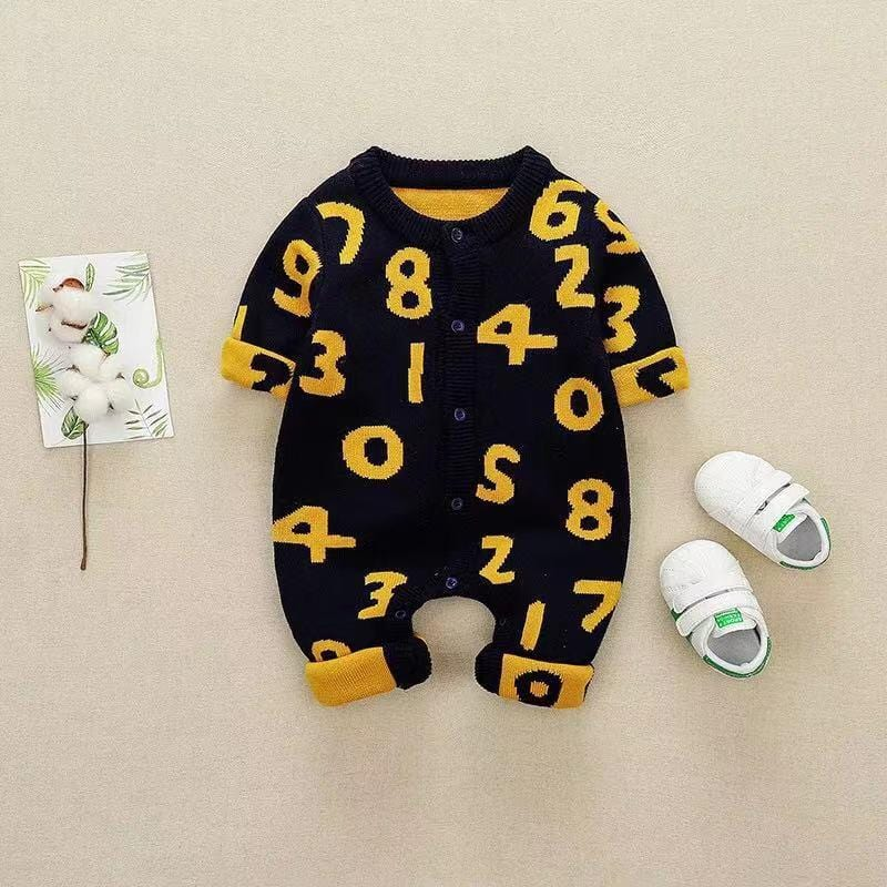 Baby Digital Knit Long Sleeve One Piece