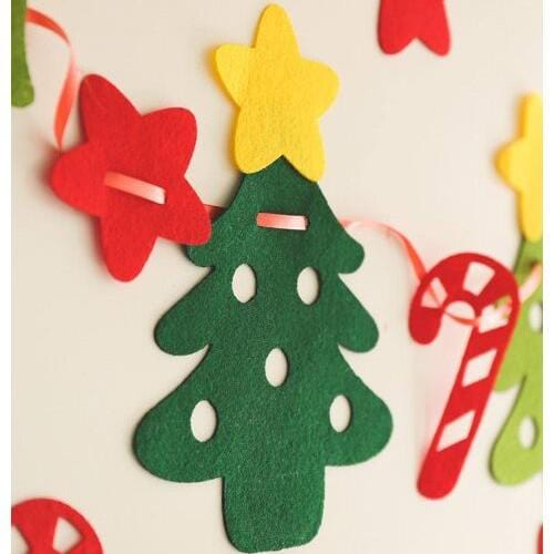 118 INCH length Merry Christmas Decorations Stars Christmas Tree - Pull Flag
