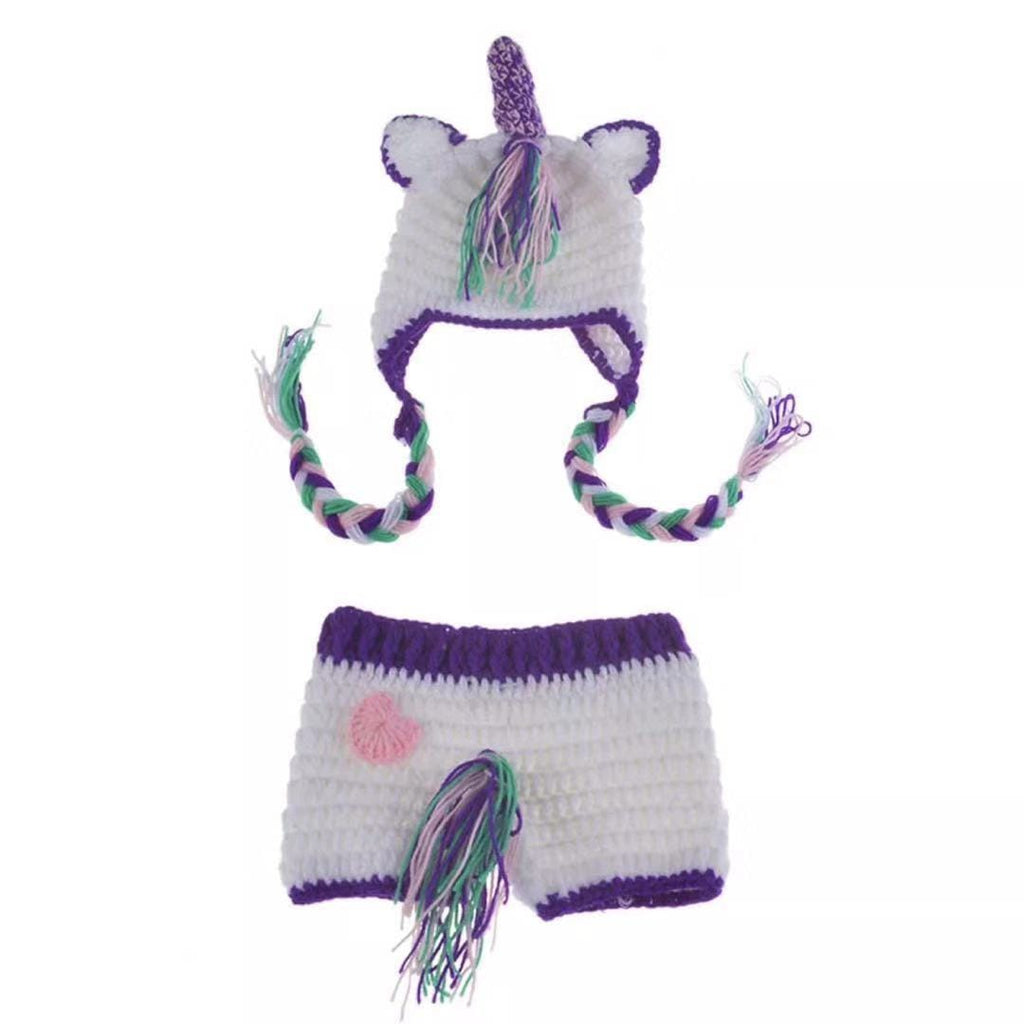 Unicorn photography props hat and pants set
