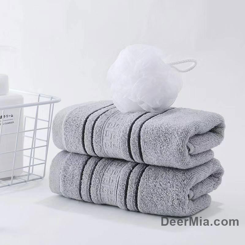 Striped cotton soft towel-homeware