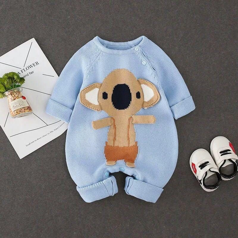 Small bowl bear animal baby knitted onesies