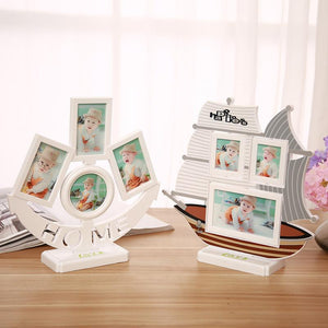Cute sailboat shape design children's photo frame