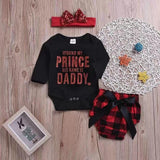 IFOUND MY PRINCE HIS NAMEIS DADDY - Baby Letter Siamese Set