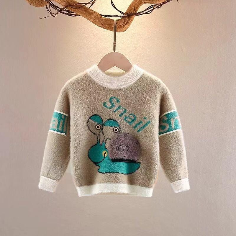Baby snail long sleeve warm top
