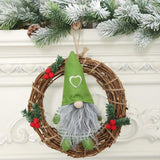Merry Christmas Home Dressing Supplies - Rudolph Doll Rattan Pendant