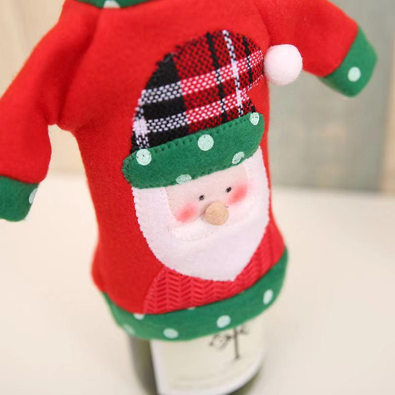 Christmas Dress Up - Christmas Gifts - Wine Bottle Set-2-piece set