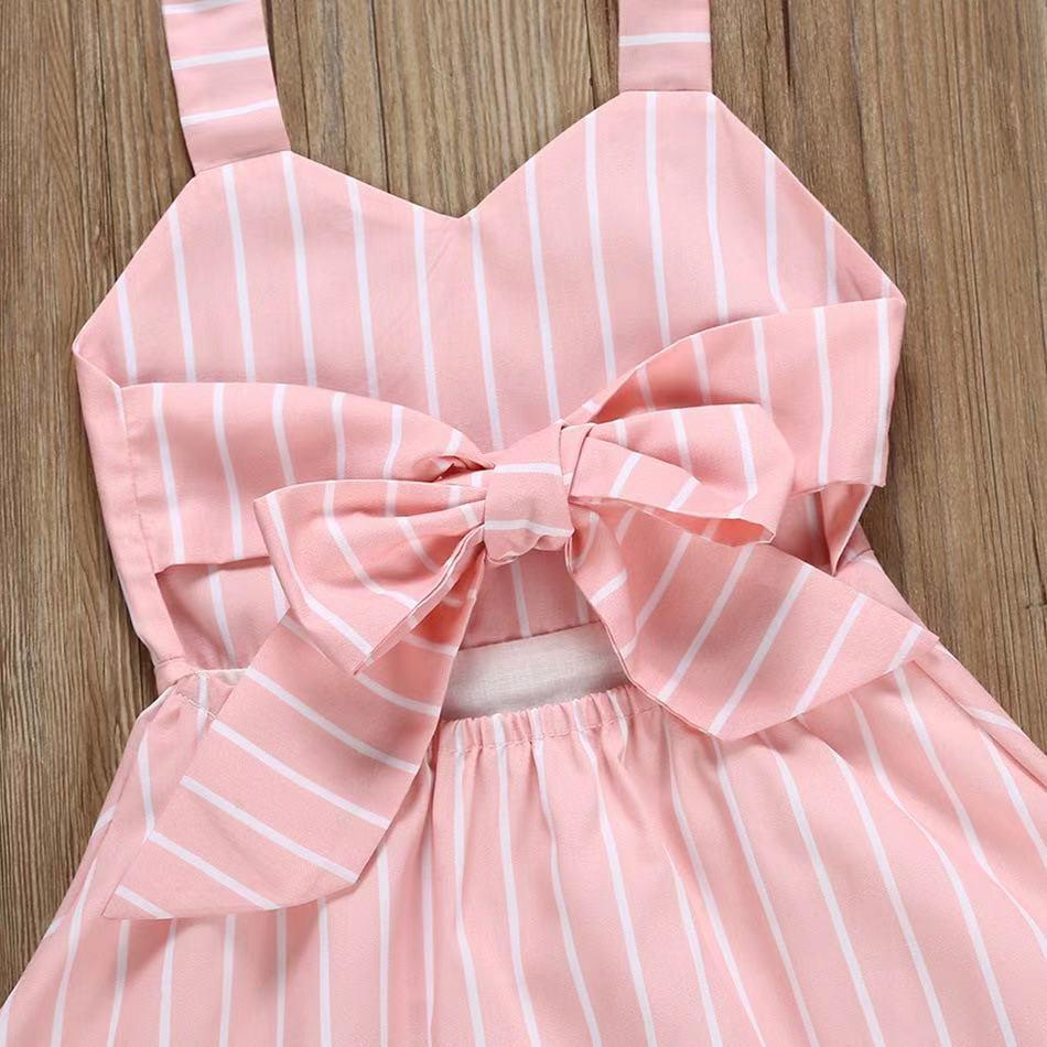 Baby Tie-Back Striped Halter Dress