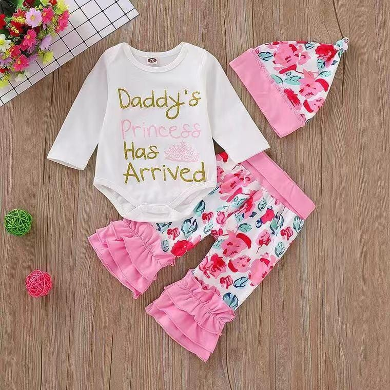 Dad's Princess - Baby Letter Long Sleeve Set