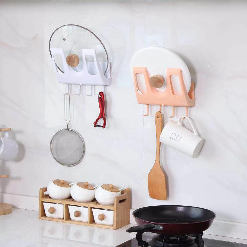 Kitchen Pot Lid Strongly Adhesive Wall Storage Rack-Home Supplies
