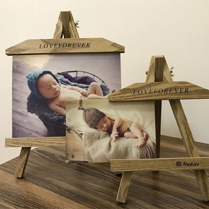Wooden baby creative small easel photo frame