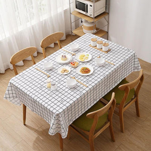 Waterproof and oil-proof disposable PEVA tablecloth