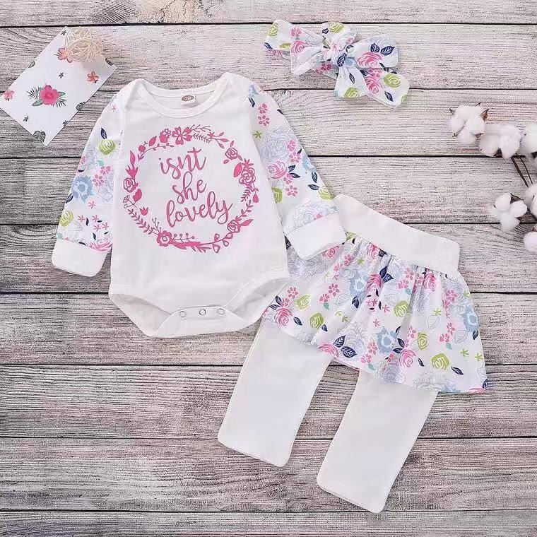 Baby girl letter long sleeve suit