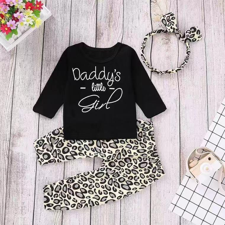 Baby letter print long sleeve suit