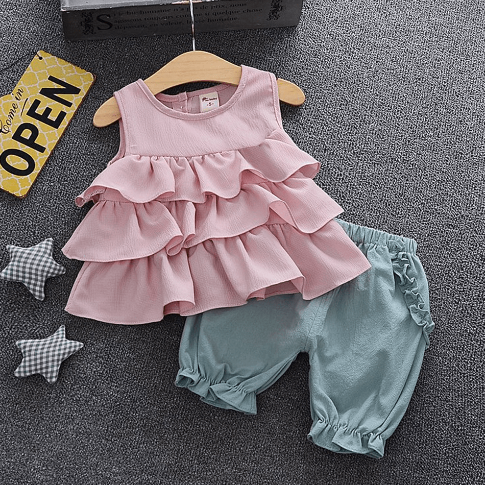 Baby Girl Ruffle Tank and Bloomers Set