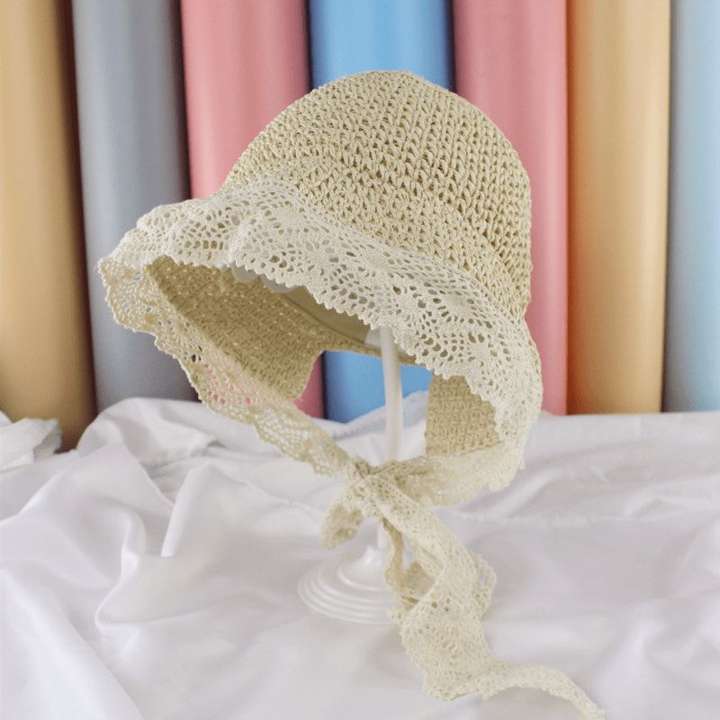 Baby Lace Trimmed Hat