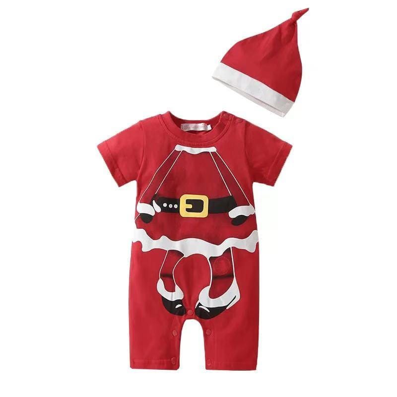 Christmas Short Sleeve Cotton One Piece
