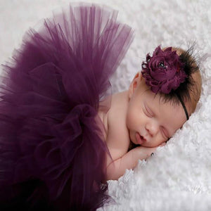 Floral Decor Tutu Skirt and Headband Photography Props Outfits