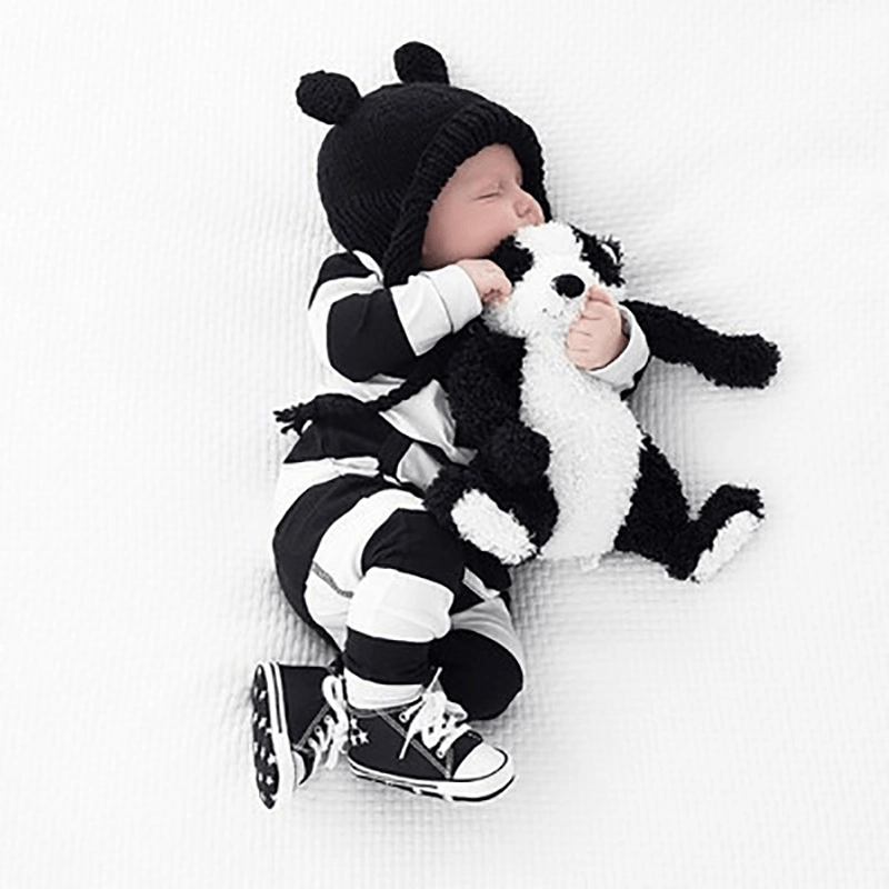 Baby Boy / Girl Stripe Style Pocket Design Long-sleeve Jumpsuit
