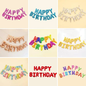 16inches Birthday Balloon Banner 13pcs