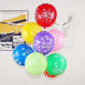 10 PCS-12 INCH Happy birthday lettering balloons