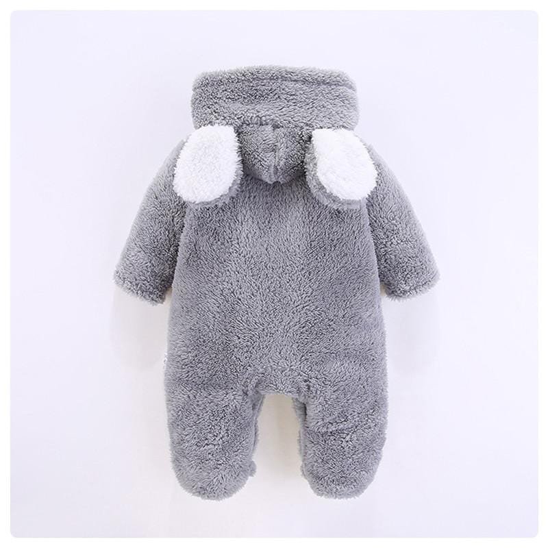 Baby Boy / Girl 3D Bear Design Winter Hooded Jumpsuit
