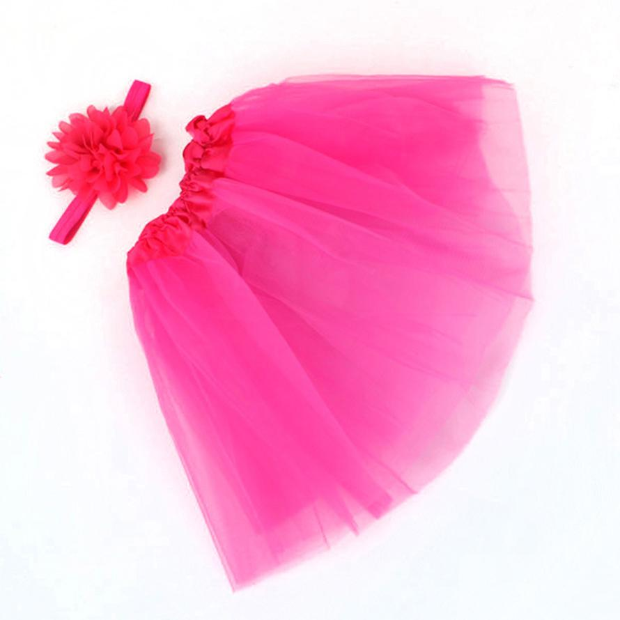 Floral Decor Baby Photography Prop Tutu Skirt and Headband Set