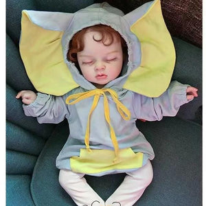 Elephant baby hooded long sleeved variety of color cotton onesies