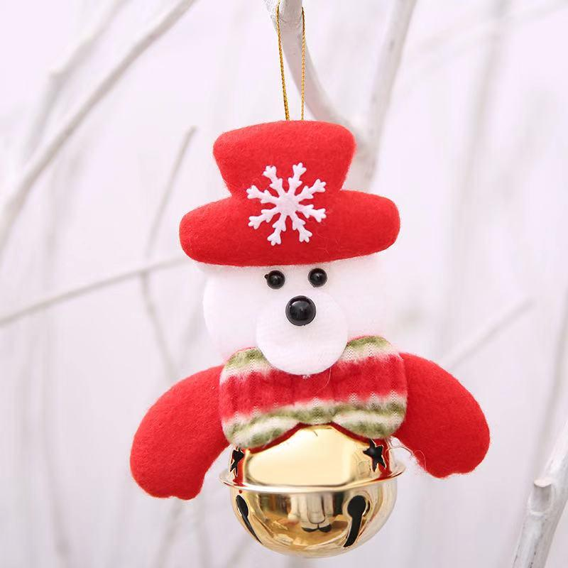 Christmas decorations - Christmas tree doll bell pendant